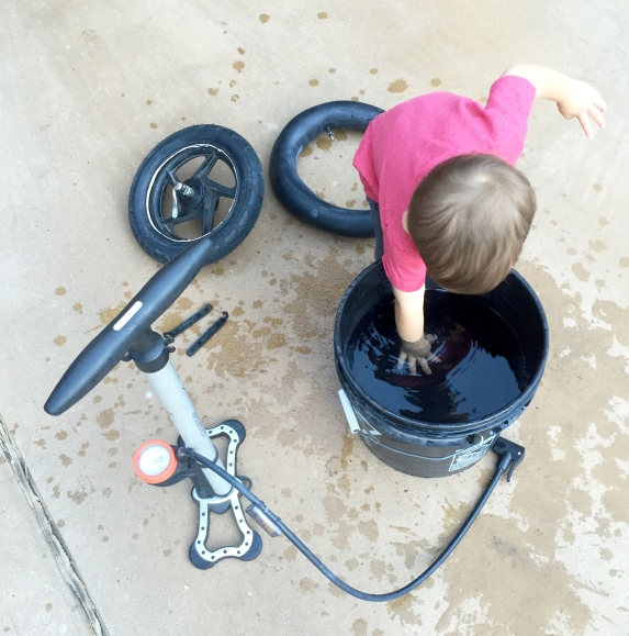 Three Whims: How to fix a flat for dummies, on a bicycle, Bob or running stroller