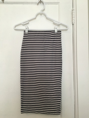 Le Tote Review - Striped Skirt