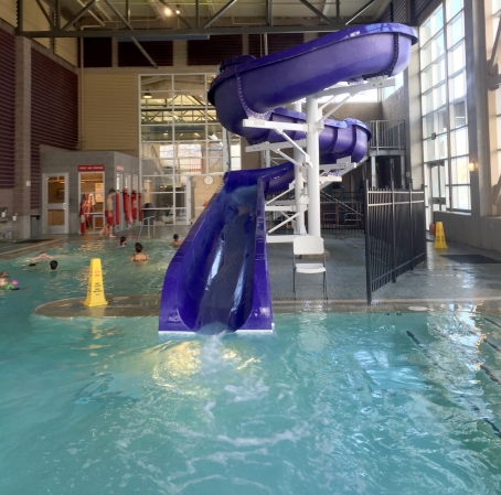 Three Whims: Winter cure for toddlers = indoor swimming!