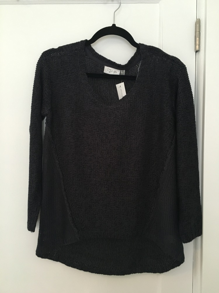 Three Whims: Stitch Fix Review RD Style Analisa Twisted Seam Pull-Over Sweater