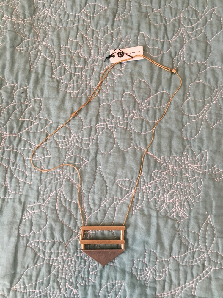 Three Whims: Stitch Fix Review Bay to Baubles Dallas Geo Pendant Necklace