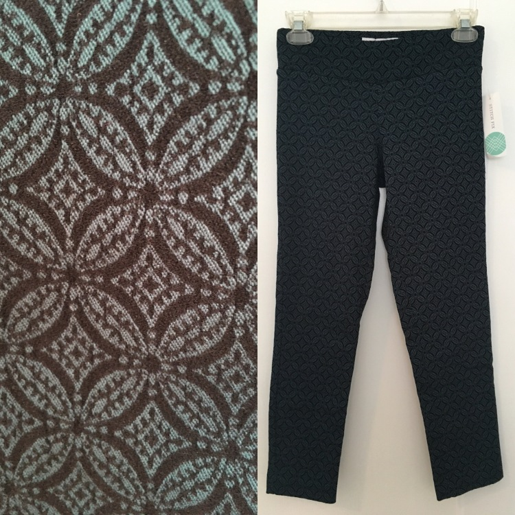 Three Whims: Stitch Fix Review Margaret M Emer Jacquard Print High Waisted Cropped Pant