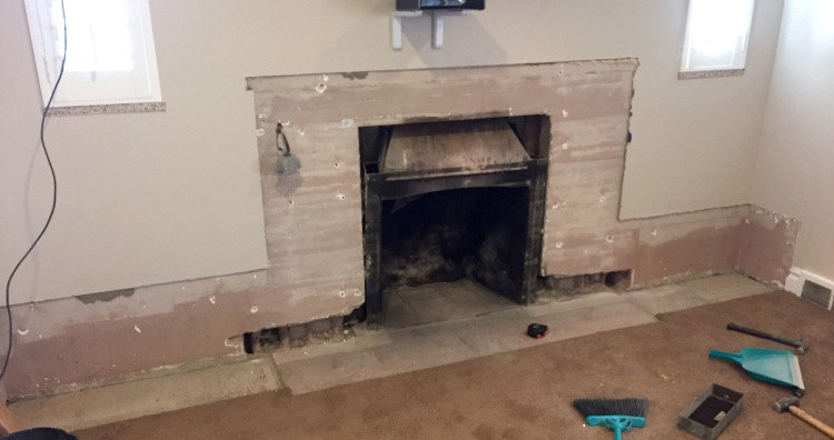Three Whims: DIY firplace mantle reveal - How we DIY'd our fireplace from zero to hero!