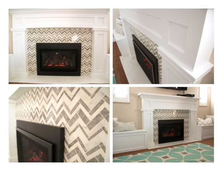 Three Whims: DIY firplace mantle reveal - the after photos