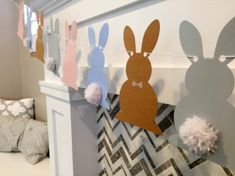 Three Whims: DIY Easter bunny banner