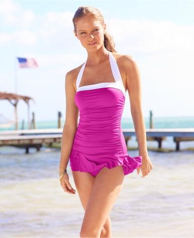 Lauren Ralph Lauren Halter Ruched Tummy-Control Swimdress .jpg