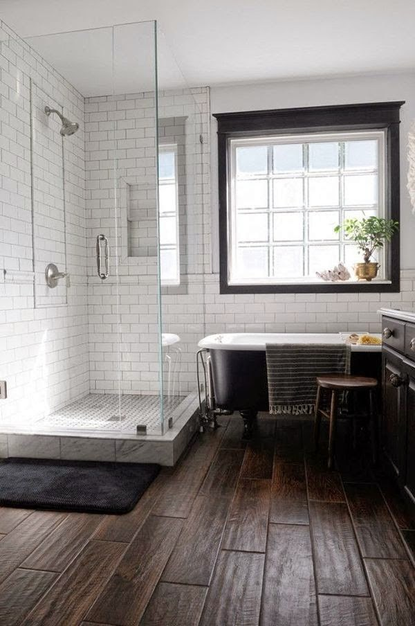Three Whims: Favorite Modern Farmhouse Bathroom Pinterest Inspirations