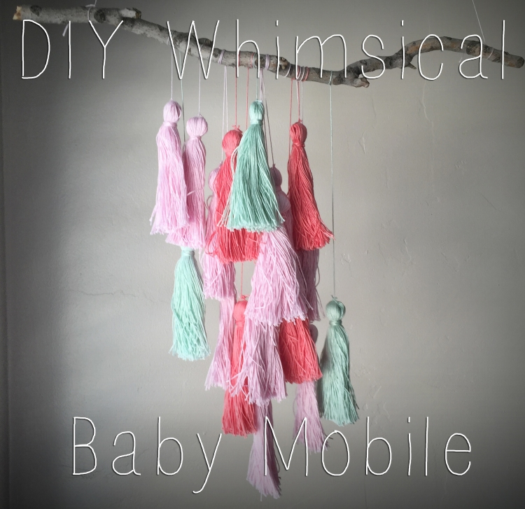 DIY whimsical baby mobile - made from string tassels